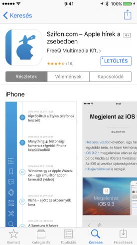A Szifon.com app az App Store-ban.