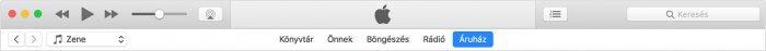 iTunes – Áruház menüpont.