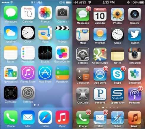 ios-7-vs-ios-6-homescreen