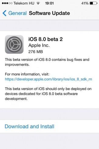 iOS8b2