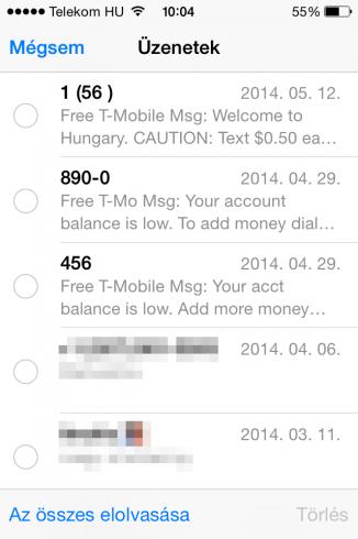 iOS8b2_uzenetek_elolvasasa