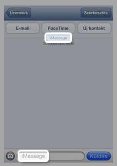 iMessage-üzenetet tartalmazó üzenetablak