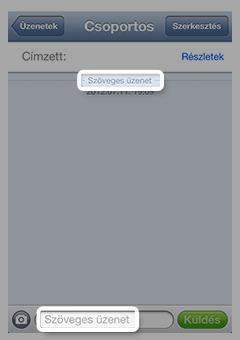 Szöveges üzenetet tartalmazó üzenetablak