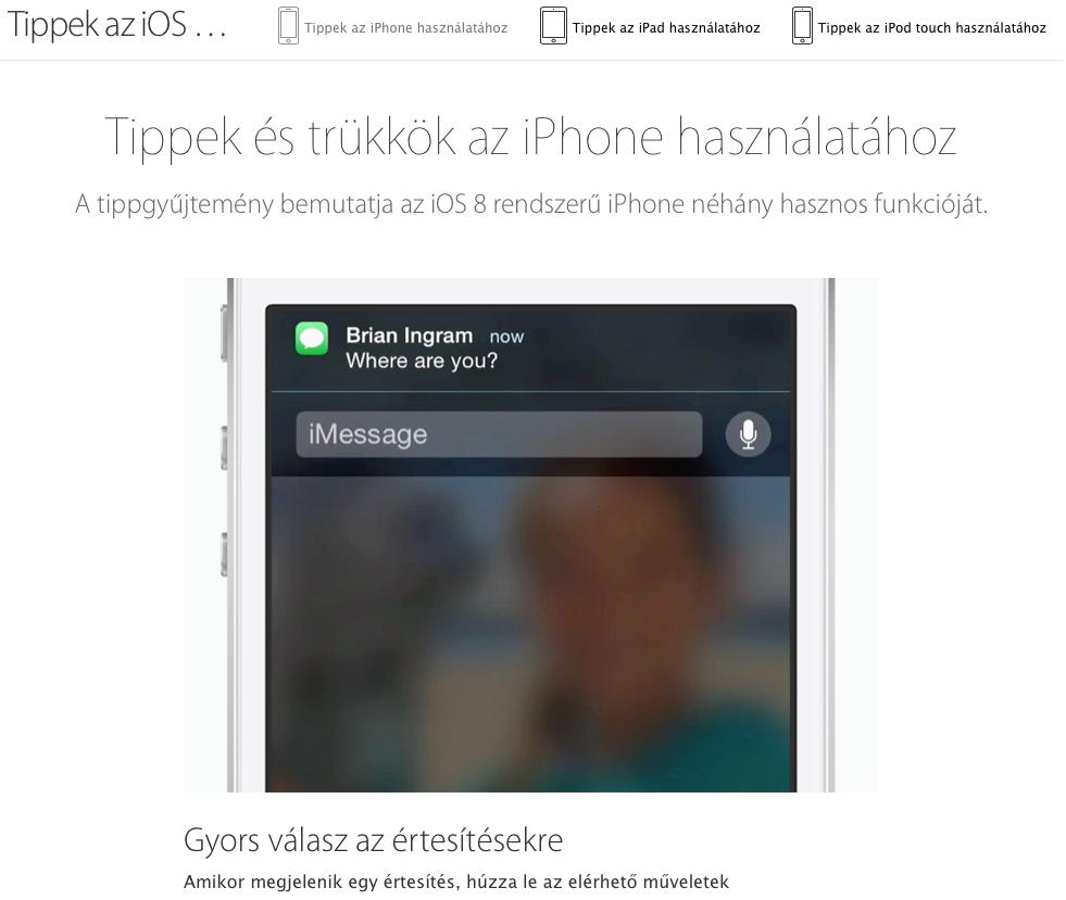 Tips Apple oldal