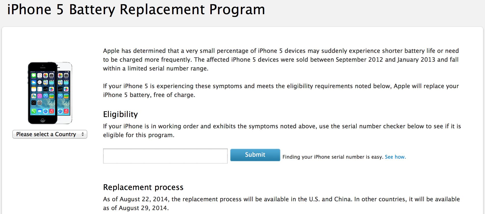 Az Apple díjmentesen cseréli az iPhone 5-ök egy része esetén az ... 99d6dbc3a2