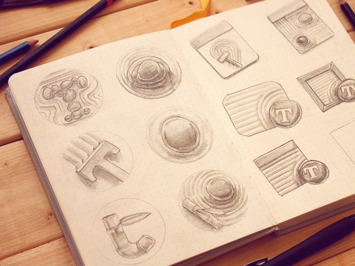 Typed icon Sketchbook
