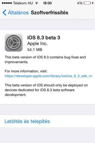 iOS8.3beta3