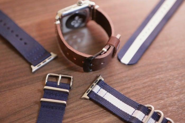 Kép: Apple Watch szíjak a Clockwork kínálatából.
