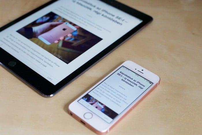 Kép: iPad Pro 9,7 inch és iPhone SE