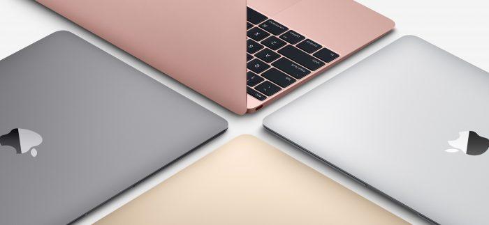 """Borítókép: A 12""""-es MacBook modellek négy színben."""