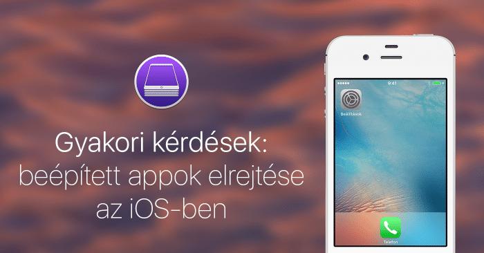 Kép: Borítókép, a jobb oldalán egy iPhone 4s, amin mindössze csak a Beállítások és a Telefon ikon látható.