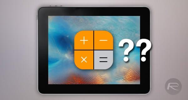 Kép: Miért nincs számológép app az iPaden?