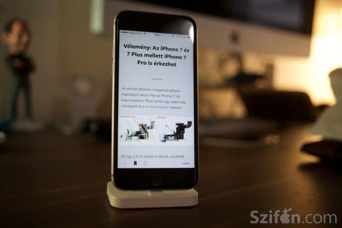 Kép: A Szifon.com alkalmazás 3.1-es verziójának képe egy cikket megnyitva.