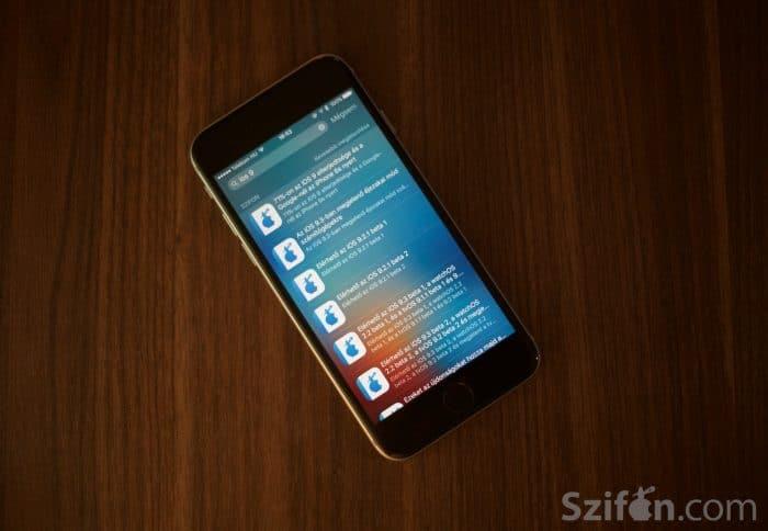 Kép: A Szifon.com alkalmazás 3.1-es verziójával a Spotlight már a cikkek között is tud keresni.