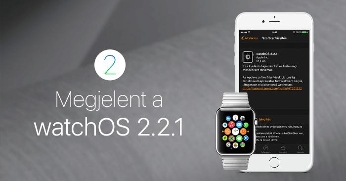 Borítókép: Megjelent a watchOS 2.2.1!