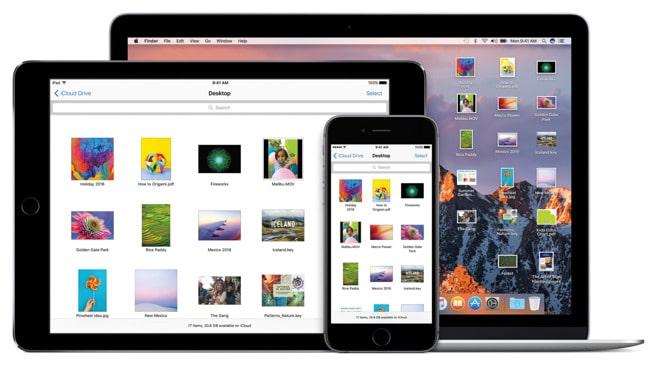 Borítókép: Az iCloud Drive nyújtotta hozzáférésnek köszönhetően a Mac asztalán található fájlok elérhetőek az iPaden és az iPhone-on is.