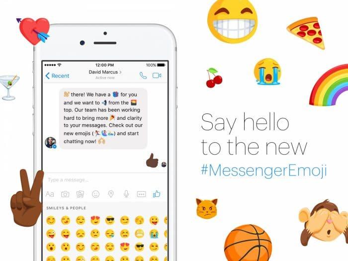 Kép: A Facebook Messenger esetén elérhetővé váló új emojik promó bannere.