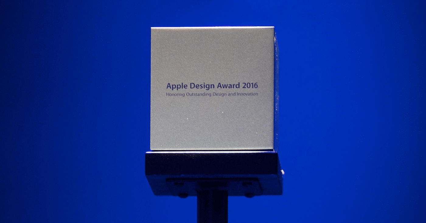 Apple design award 2016 cover for Milano design award 2016