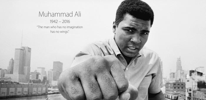 Borítókép: Az Apple főoldala is megemlékezik Muhammad Aliról.