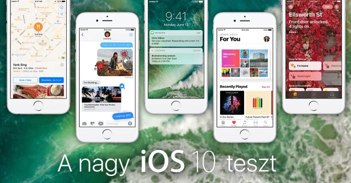 Borítókép: A nagy iOS 10 teszt – öt iPhone 6s egymás mellett az új rendszer újdonságaival.