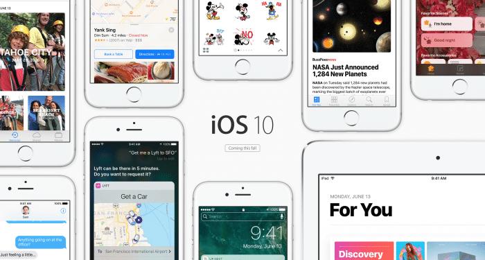 Borítókép: Az iOS 10 promóképe az Apple weboldaláról.