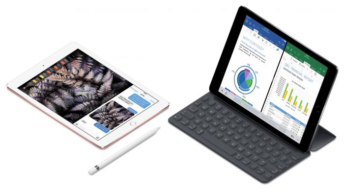 """Borítókép: 9,7""""-es iPad Pro Smart Keyboarddal és Apple Pencillel."""