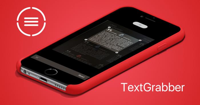 Borítókép: TextGrabber app promó.