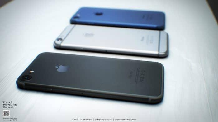 Kép: Három különböző színárnyalatú készülék egymás mellett a koncepcióképen - oldalnézetből.