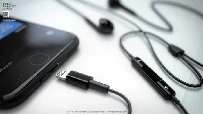 Kép: Fekete készülék fekete színű, Lightning-csatlakozós fülessel.