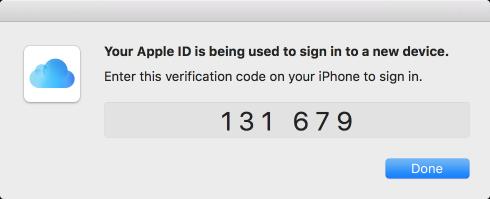 Kép: A kétlépéses hitelesítésnél érkező ellenőrző kód.
