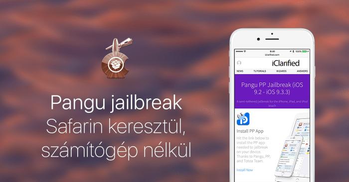Borítókép: Pangu jailbreak Safarin keresztül, számítógép nélkül.