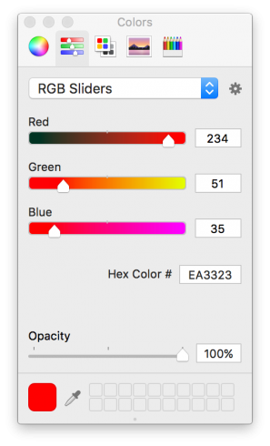 macOS Sierra Color picker
