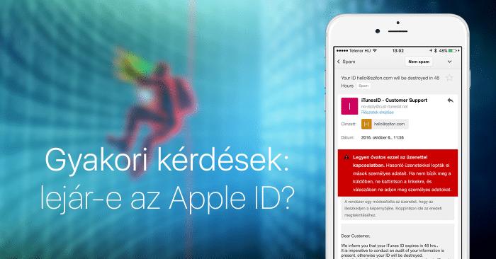 Borítókép: Lejár-e az Apple ID? Természetesen nem.