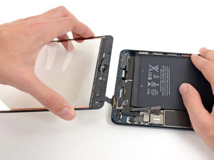 iPad mini érintő üveg csere szervizfolyamat