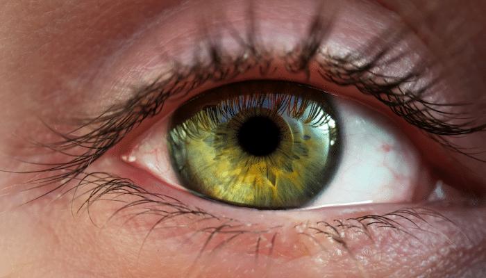 A szemem macro objektívvel fotózva
