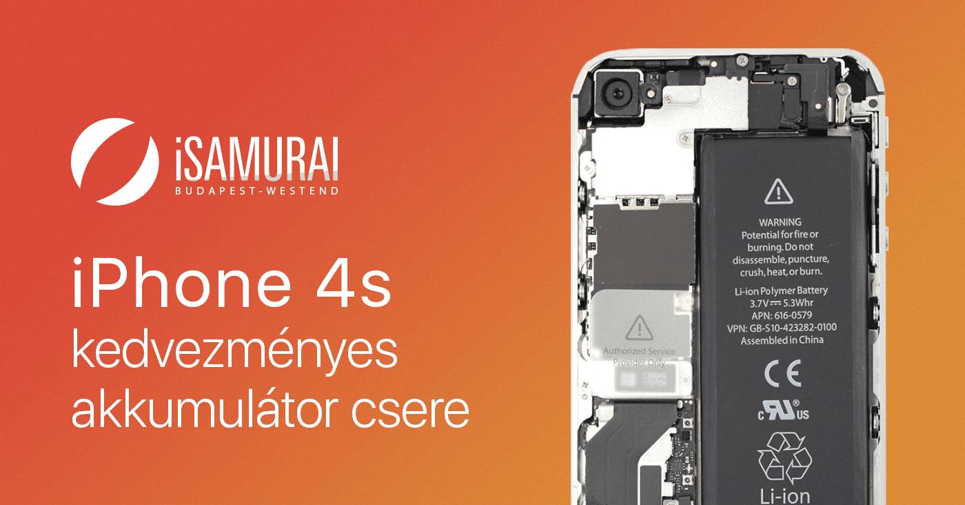 iPhone 4S Akkumulátor csere