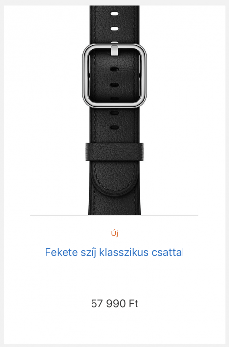 2017-es bőr Apple Watch szíjak