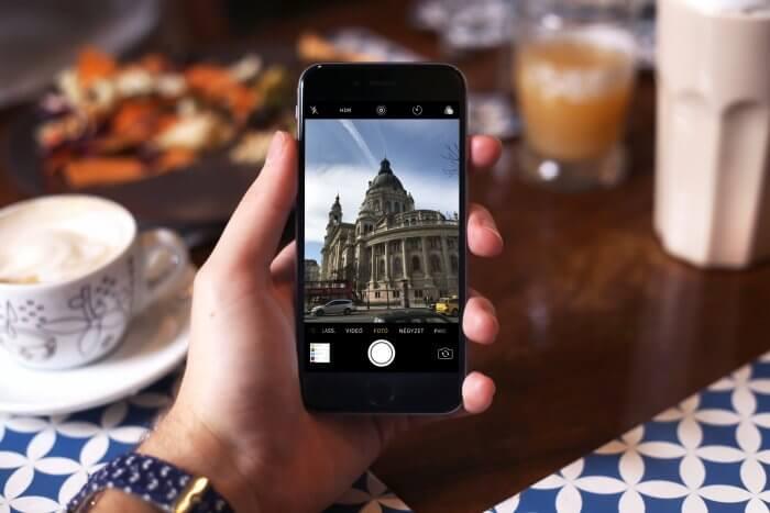iPhone kamera alkalmazás