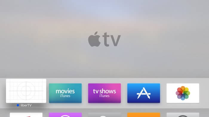 liberTV app az Apple TV-n