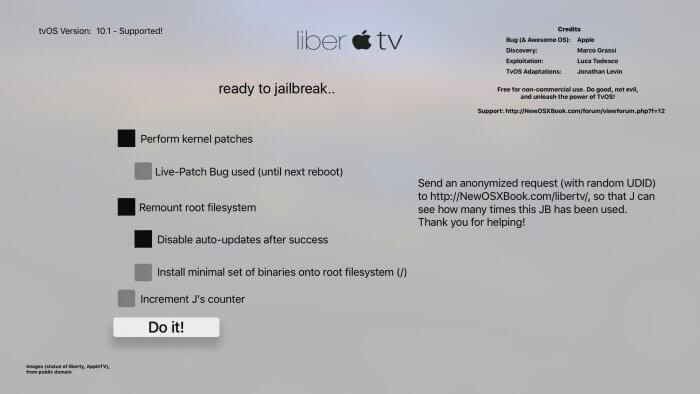 liberTV - ajánlott opciók