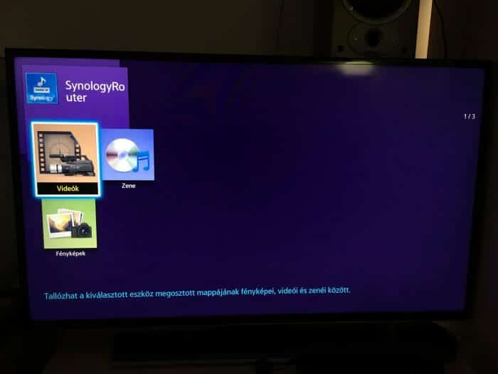 Samsung TV és a Synology