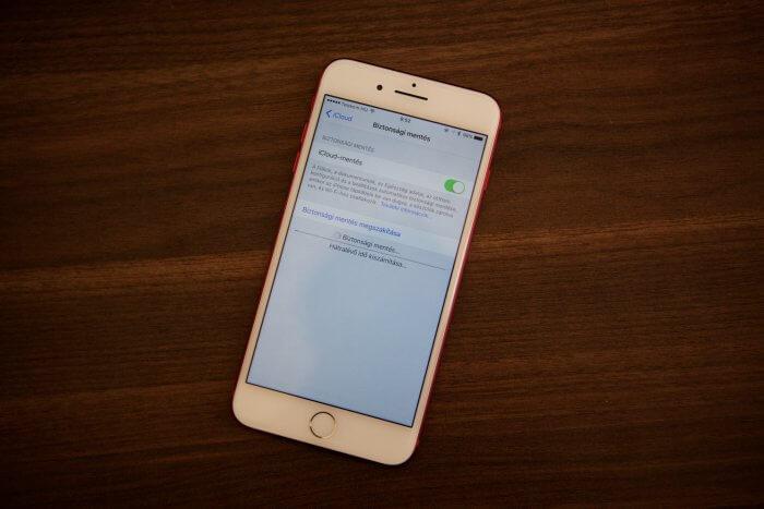 iPhone biztonsági mentés
