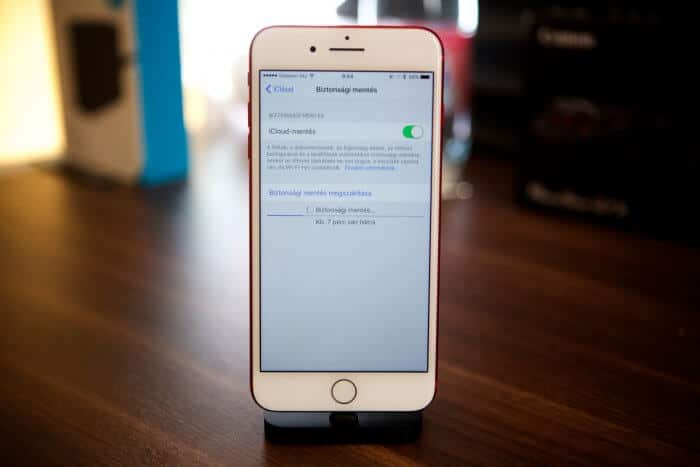 iCloud mentés az iPhone-on