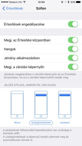 Szifon app értesítések