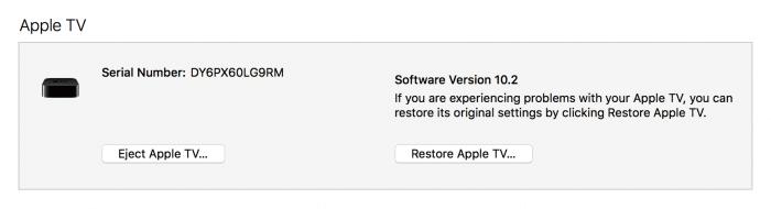 tvOS 10.1.1 restore