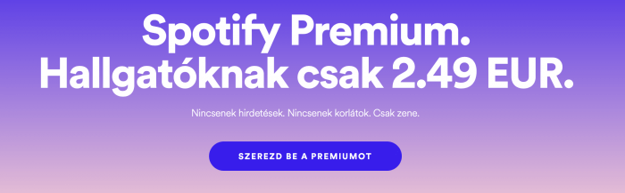 Spotify diákkedvezmény