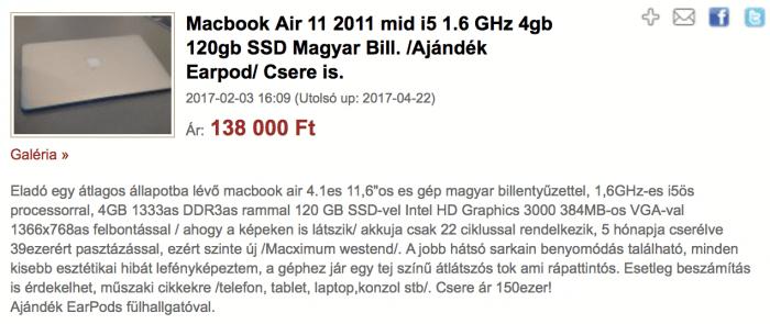 Használt Macbook
