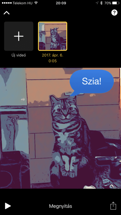 Clips iOS alkalmazás képernyőkép