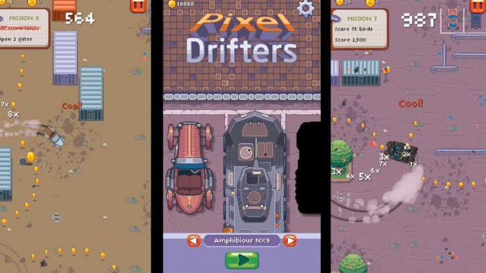 Pixel Drifters képernyőkép