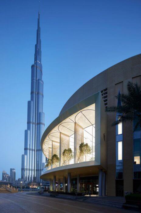 Dubai Apple Store és a Burj Khalifa